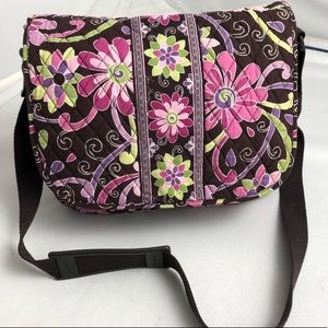 Vera Bradley Purple Punch messenger bag